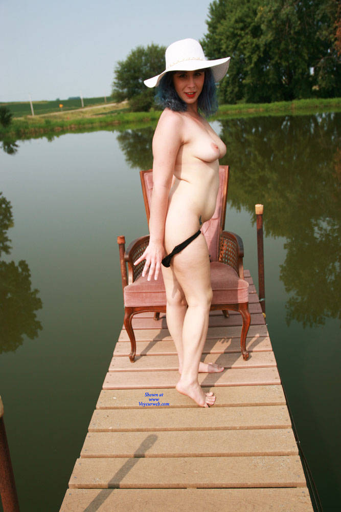Pic #3 On The Dock - Nude Girls, Big Tits, Outdoors, Bush Or Hairy, Amateur, Tattoos