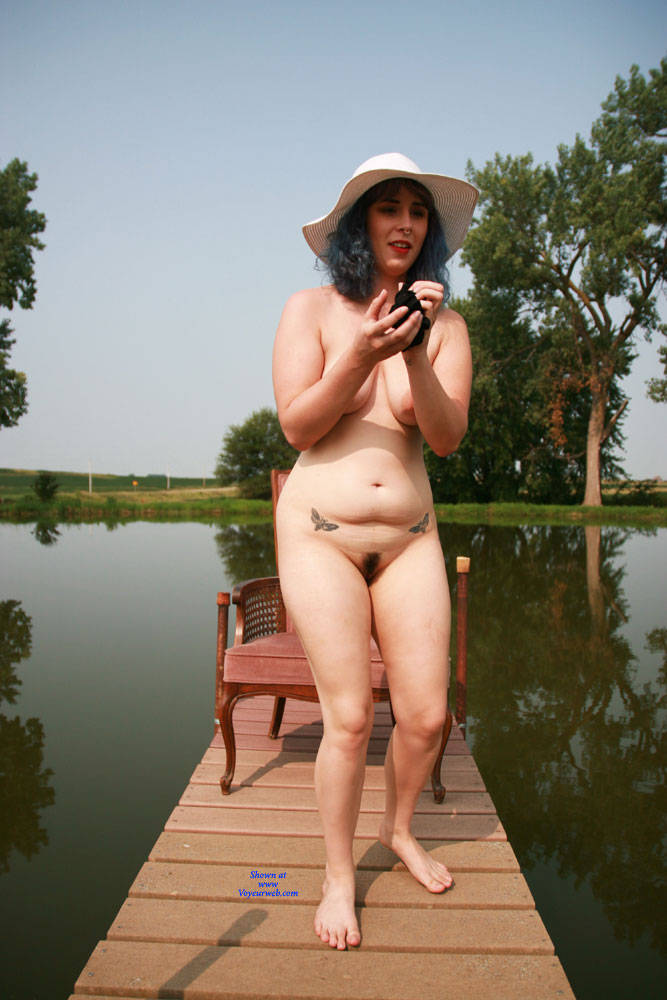 Pic #4 On The Dock - Nude Girls, Big Tits, Outdoors, Bush Or Hairy, Amateur, Tattoos