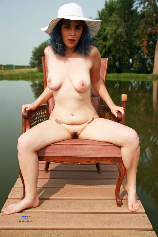 Pic #5 On The Dock - Nude Girls, Big Tits, Outdoors, Bush Or Hairy, Amateur, Tattoos
