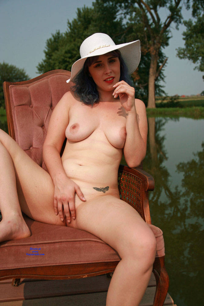 Pic #9 On The Dock - Nude Girls, Big Tits, Outdoors, Bush Or Hairy, Amateur, Tattoos