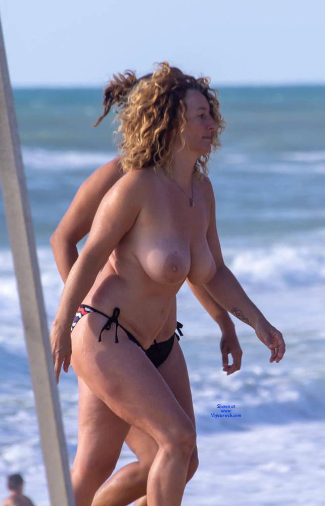beach the nipples Big on