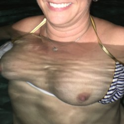 My medium tits - Beach pool girl