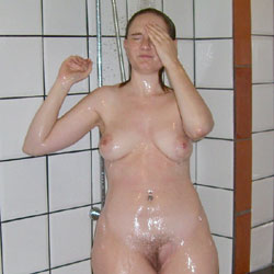 My Wife Showering - Nude Wives, Big Tits, Brunette, Mature, Bush Or Hairy, Amateur
