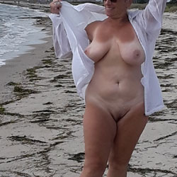 On The Beach - Beach, Big Tits, Mature, Outdoors, Amateur