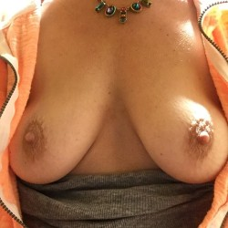 Medium tits of my wife - Ginger