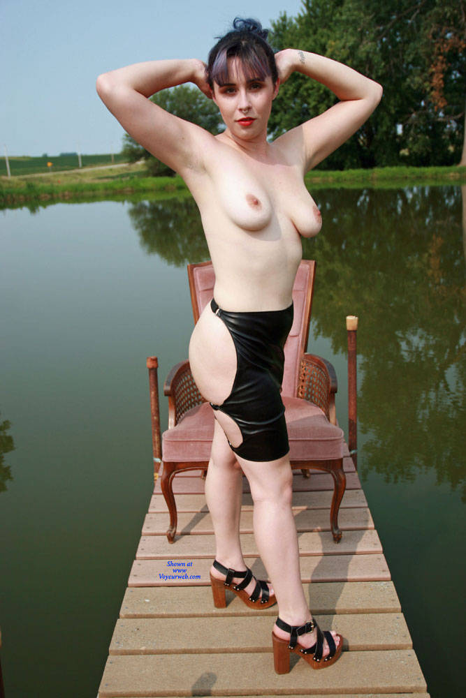 Topless At The Dock - Big Tits, Brunette Hair, Exposed In Public, Heels, Nipples, Nude In Nature, Nude Outdoors, Topless Outdoors, Nude Amateur, Sexy Ass, Sexy Body, Sexy Boobs, Sexy Girl, Sexy Legs , Outdoors, Big Tits, Heels, Skirt, Ass