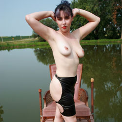 Topless At The Dock - Big Tits, Brunette Hair, Exposed In Public, Heels, Nipples, Nude In Nature, Nude Outdoors, Topless Outdoors, Nude Amateur, Sexy Ass, Sexy Body, Sexy Boobs, Sexy Girl, Sexy Legs