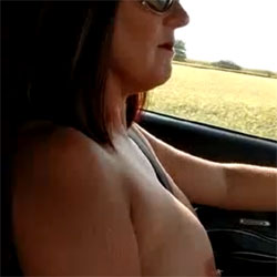 Lisa Driving Topless - Nude Girls, Big Tits, Brunette, Amateur