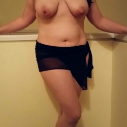 Medium tits of my wife - Natural