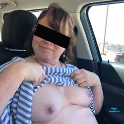 You Can't See Thru The Tinting Right? - Topless Girls, Big Tits, Public Exhibitionist, Amateur