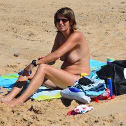 Milf On Beach - Topless Girls, Beach, Outdoors, Beach Voyeur