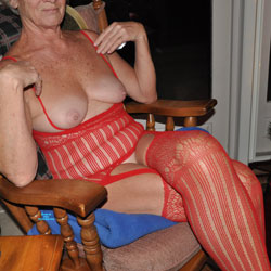 Enjoying Retirement - High Heels Amateurs, Lingerie, Mature, See Through, stockings pics