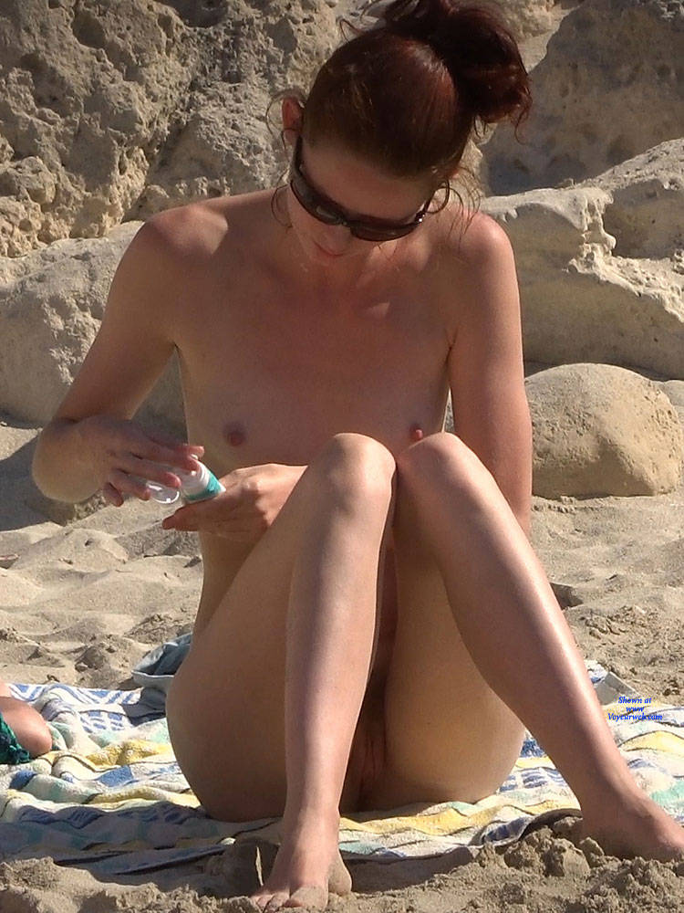 Pic #8 Last From Twins - Nude Girls, Beach, Outdoors, Small Tits, Bush Or Hairy, Beach Voyeur