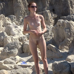 Naked At The Beach Rocks - Hairy Bush, Hairy Pussy, Hard Nipple, Nipples, Nude Outdoors, Small Breasts, Small Tits, Sunglasses, Beach Pussy, Beach Tits, Beach Voyeur, Naked Girl, Sexy Body, Sexy Face, Sexy Girl, Sexy Legs