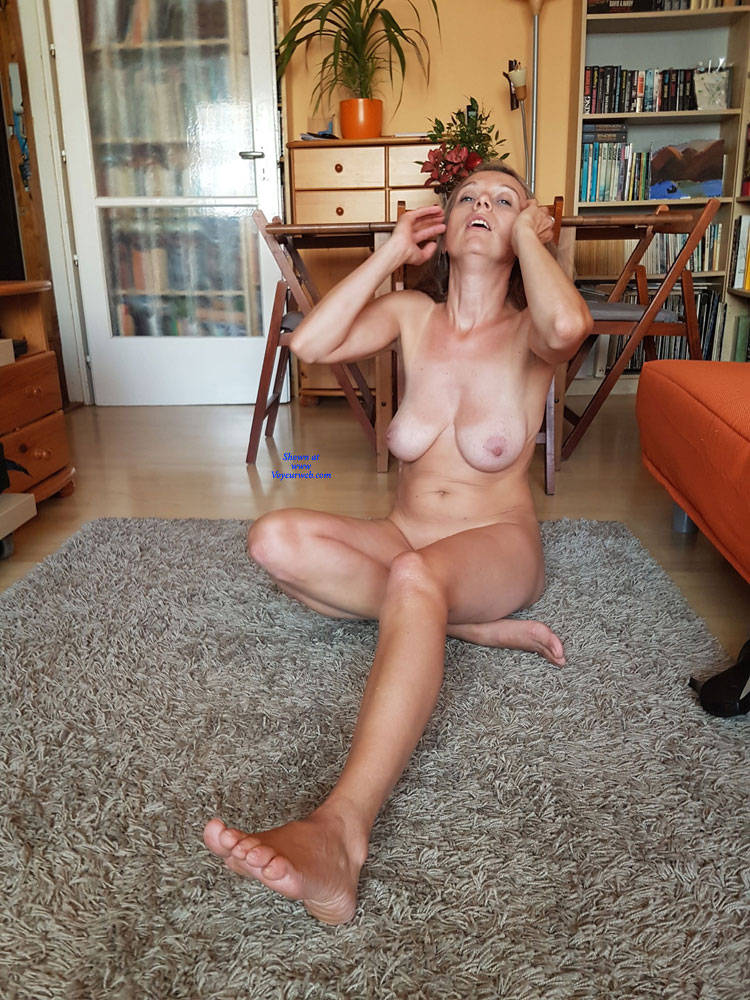 Pic #1 Preparing For A Sexy Party - Nude Wives, Big Tits, Brunette, Shaved, Amateur