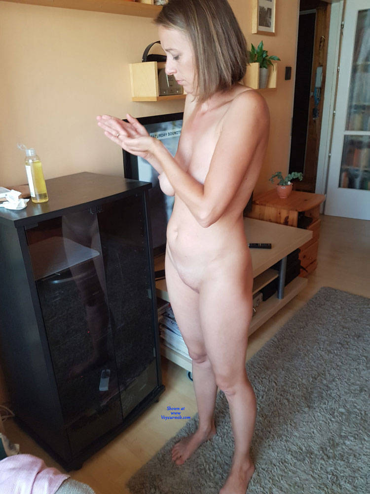 Pic #2 Preparing For A Sexy Party - Nude Wives, Big Tits, Brunette, Shaved, Amateur