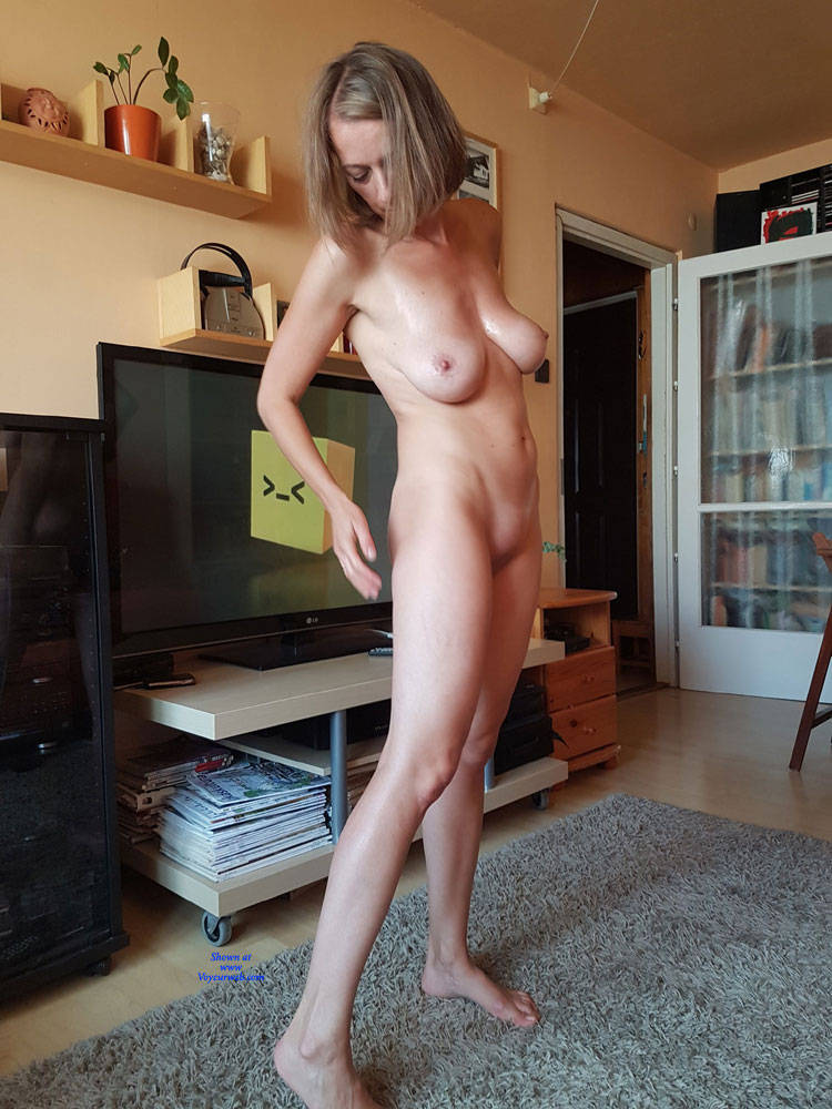 Pic #3 Preparing For A Sexy Party - Nude Wives, Big Tits, Brunette, Shaved, Amateur