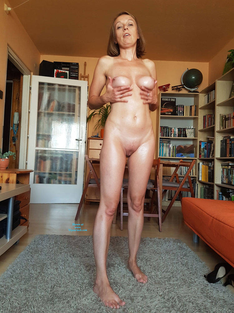 Pic #6 Preparing For A Sexy Party - Nude Wives, Big Tits, Brunette, Shaved, Amateur