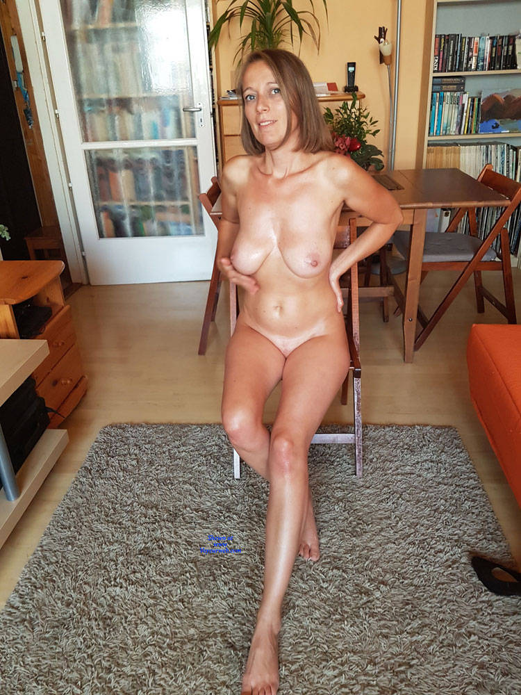 Pic #7 Preparing For A Sexy Party - Nude Wives, Big Tits, Brunette, Shaved, Amateur
