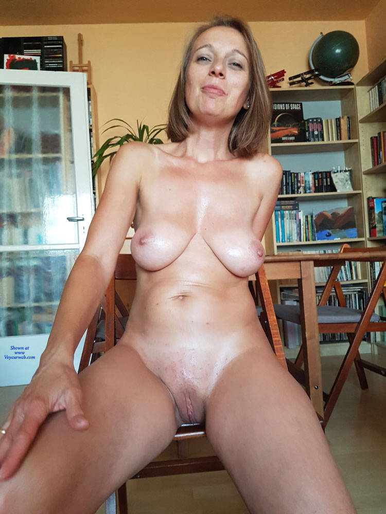 Pic #8 Preparing For A Sexy Party - Nude Wives, Big Tits, Brunette, Shaved, Amateur