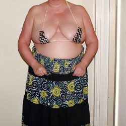 Big Tits Wife Micro-Bikini Striptease - BBW, Big Tits, Mature, Amateur, Wife/Wives