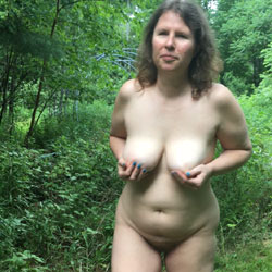 The Wife Hanging It Out - Nude Wives, Big Tits, Brunette, Outdoors, Nature, Amateur