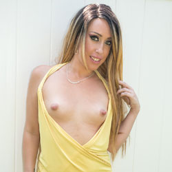 Gorgeous In Yellow Sleeveless - Blonde Hair, Flashing Tits, Flashing, Nipples, No Panties, Nude Outdoors, Pierced Nipples, Small Breasts, Small Tits, Tattoo, Naked Girl, Sexy Body, Sexy Face, Sexy Girl, Sexy Legs, Amateur