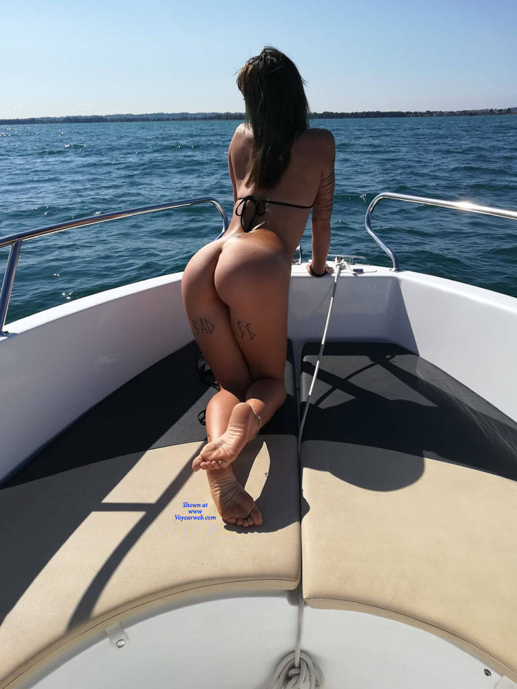 Nude on a boat