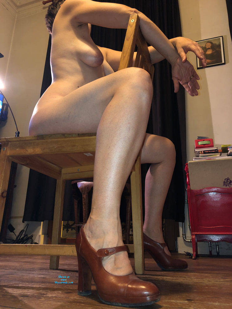 Pic #2 Not Just A Milf - Nude Girls, Big Tits, Brunette, High Heels Amateurs, Bush Or Hairy