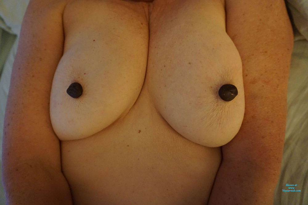Pic #3 Playing With My Tits - Big Tits, Amateur