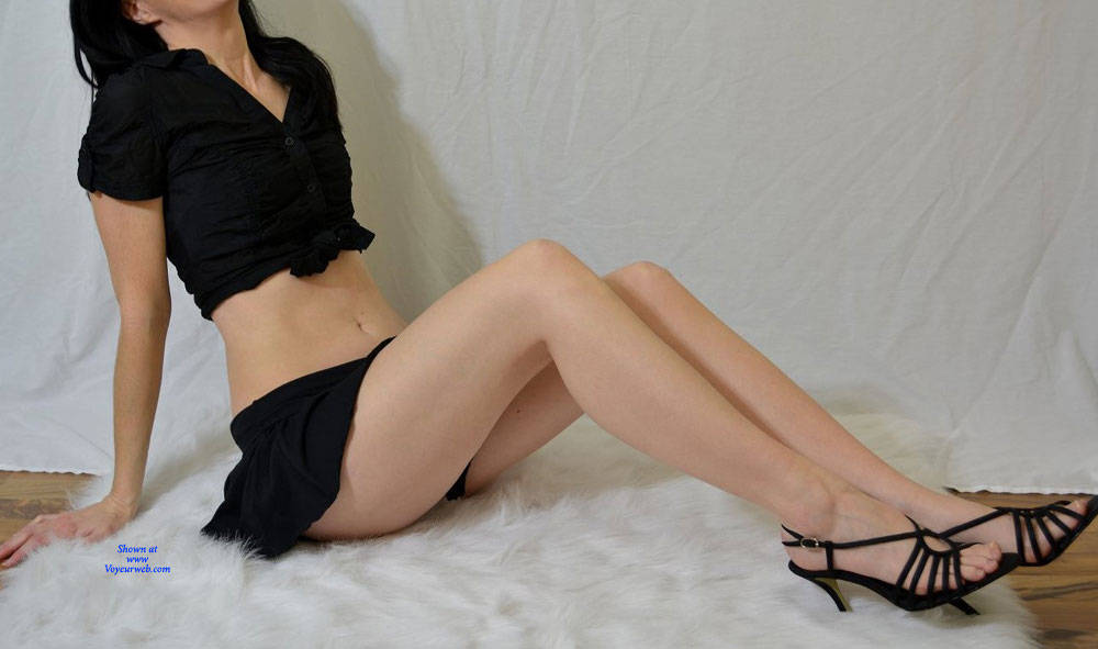 Pic #3 First Lingerie Exposure - High Heels Amateurs, Dressed