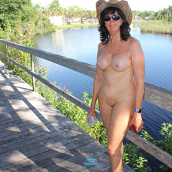 Naked In The Neighborhood  - Big Tits, Brunette Hair, Full Nude, Hard Nipple, Naked Outdoors, Nipples, Nude Outdoors, Shaved Pussy, Hairless Pussy, Sexy Body, Sexy Boobs, Sexy Face, Sexy Girl, Sexy Legs
