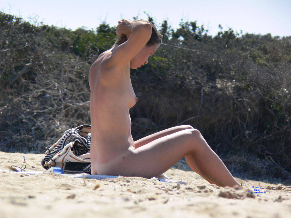 Pic #2 Looking For Some Shadow - Nude Girls, Beach, Outdoors, Small Tits, Bush Or Hairy, Beach Voyeur