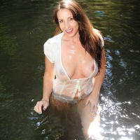 In The Water - Big Tits, Brunette Hair, See Through