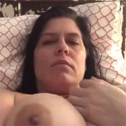 Fucks Herself To Orgasm Part 2 - Big Tits, Brunette, Amateur