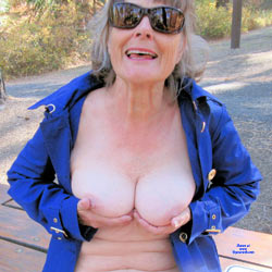 Rita B Displays Her Tits, Ass And Pussy - Mature, Outdoors, Amateur
