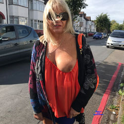 Expose Me - Big Tits, Blonde, Public Exhibitionist, Flashing, Outdoors, Public Place, Amateur, Body Piercings