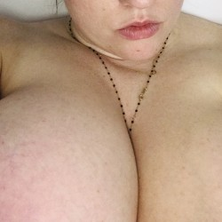 Very large tits of my wife - Allison