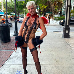 Sexy Lingerie In The Street - Big Tits, Blonde Hair, Exposed In Public, Flashing Tits, Flashing, Heels, Natural Tits, Nude In Public, Spread Legs, Stockings, Hot Girl, Looking At The Camera, Sexy Body, Sexy Face, Sexy Girl, Sexy Legs, Sexy Lingerie, European And/or Ethnic, Strap On, Amateur, Costume