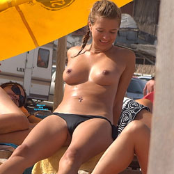 Topless And Teasing - Bikini, Blonde Hair, Firm Tits, Hard Nipple, Nipples, Nude Beach, Nude In Public, Nude Outdoors, Topless Beach, Topless Girl, Topless Outdoors, Topless, Beach Tits, Beach Voyeur, Sexy Body, Sexy Face, Sexy Feet, Sexy Girl, Sexy Legs
