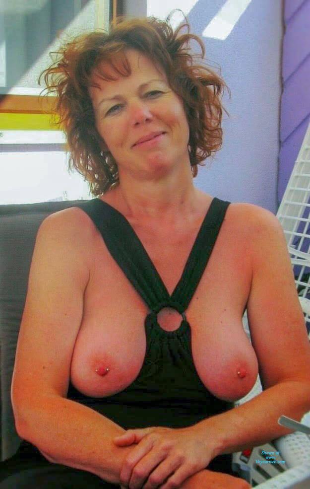 Mature big tit slut outdoors Sexy Mature Slut October 2018 Voyeur Web