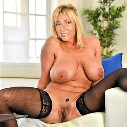Big tit blonde mature