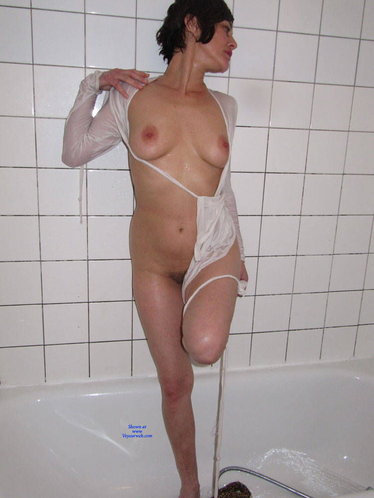 Pic #2 Bathroom - Big Tits, Brunette, Bush Or Hairy, Amateur