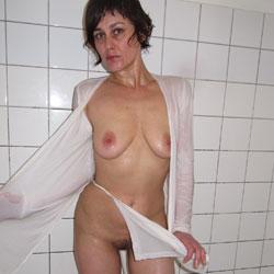 Bathroom - Big Tits, Brunette, Bush Or Hairy, Amateur