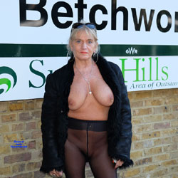 Expose Me - Big Tits, Blonde, Public Exhibitionist, Flashing, Outdoors, Public Place, See Through, Amateur