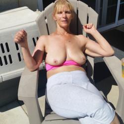 Medium tits of my wife - lisa titties