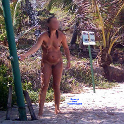 Wash In Tambaba Beach - Nude Girls, Outdoors, Bush Or Hairy, Beach Voyeur