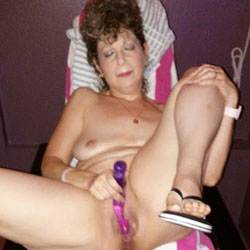 A Girl And Her Toys - Nude Girls, Brunette, Mature, Toys, Amateur, legs spread wide open, Women Using Dildos