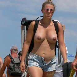 Pic #6 Nude Beach - Nude Girls, Beach, Big Tits, Outdoors, Beach Voyeur