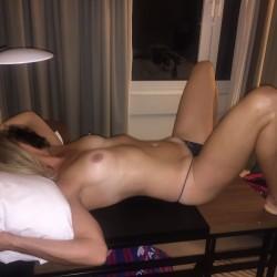 Medium tits of my wife - Brenda